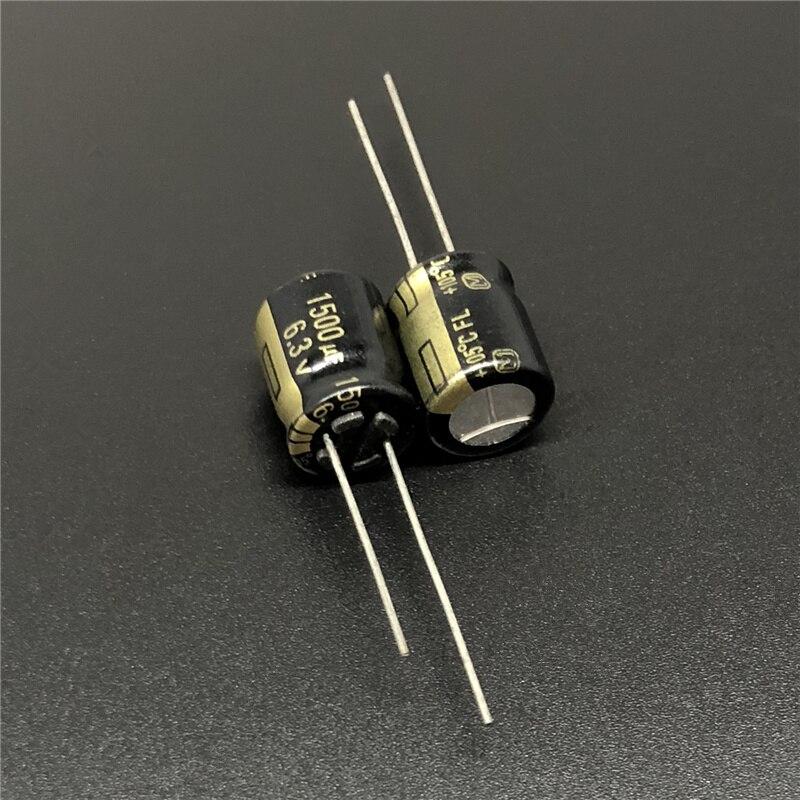 10pcs 1500uF 6.3V FL Series 10x12.5mm Original Low ESR 6.3V1500uF Motherboard Capacitor