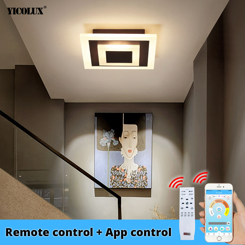 Modern Ceiling Lights Bluetooth APP control lighting For Hallway Balcony Corridor Bedroom Acrylic indoor Lamps lustre AC 90-260V image