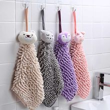 Baby Nursery Hand Towel Baby Hand Towels Toddler Coral Fleece Cartoon Animal Wipe Hanging Towel For Children Bathroom 30 x 23cm(China)