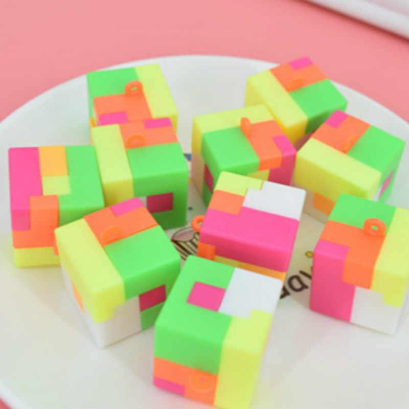 1 個の正方形ブロックパーティー好意の誕生日プレゼント/ゲストスモール存在パーティー用品セットノベルティおもちゃ