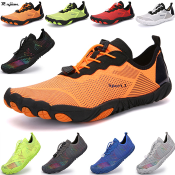 Men and women barefoot swimming sports water shoes outdoor quick-drying breathable beach large size couple wading