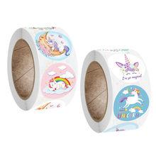 Autocollant licorne Animal dessin animé mignon pour récompense des enfants, étiquette de décoration cadeau, autocollants de papeterie pour enseignant et étudiant