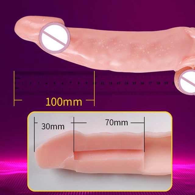 Reusable Condoms Penis Extender Intimate Sex Products Rubber Dick Penis Nozzle Erotic Goods Cock Sleeve Dildo Sex Toys For Men 5