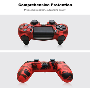 Image 4 - Silicone Case Cover For Sony PS4 Controller  For PS4 Gamepads joystick with 2 thumbsticks Grips Cap