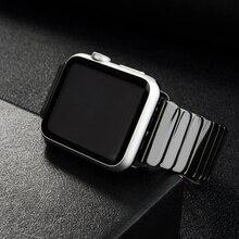 세라믹 스트랩 애플 시계 밴드 44 mm 40mm iwatch 42mm 38mm 럭셔리 스테인레스 스틸 팔찌 애플 시계 시리즈 5 4 3 2 1