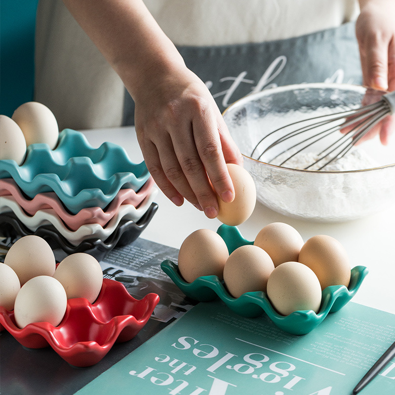 Utensílios de cozinha bandeja ovo cremalheira do ovo utensílios de cozinha cerâmica do agregado familiar ovo de silicone