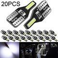20 шт., светодиодные лампы T10, 6000 К, для W5W 168 194