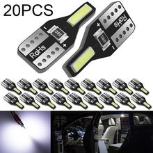20Pcs T10 LED Bulb Canbus LED Lamp 6000K White for W5W 168 194 Car Parking Light Clearance Dome Map Lamp Interior Trunk Lamp 12V 10pcs car lights t10 led clearance lights w5w parking bulb white 6000k crystal blue 192 168 indoor light 12v car accessories