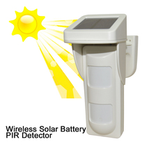 Wireless Intelligent 2 PIR sensor Outdoor Detector With Solar Power 433mhz waterproof intruder theft alarm pet immunity smartyiba 433mhz wireless pir sensor pet immunity pet friendly passive infrared detector for alarm system