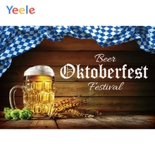 Yeele Oktoberfest Party Photocall Wood Wheat Beer Photography Backdrops Personalized Photographic Backgrounds For Photo Studio