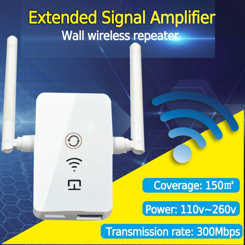 Home Wireless Wifi Repeater Signal 300Mbps Wi-fi Range Extender Access Point Amplifier Booster Antenna Multifunction Routers