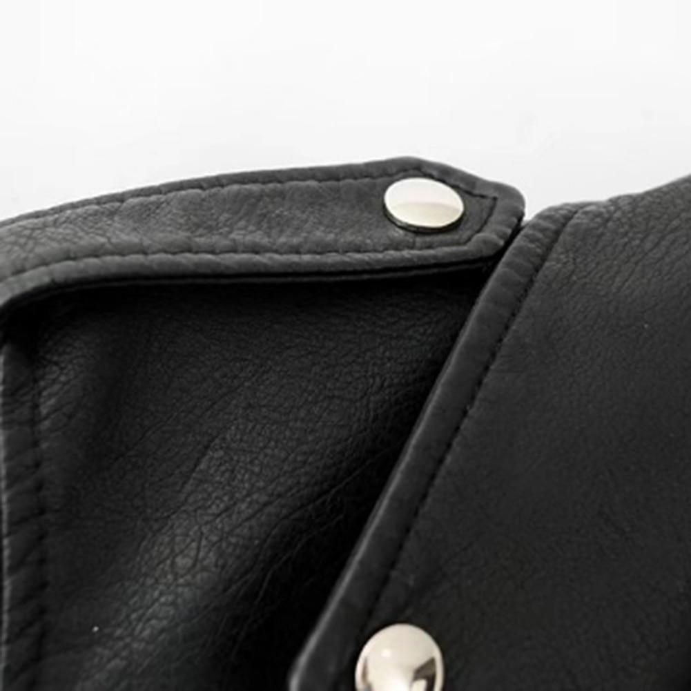 H1dc436da600a4ea8be6e32b3fbeb6599a Fashion Punk Women Coat Jacket Leather Long Sleeve Lapel Zipper Button Motorcycle Jacket Short Coat For Women's Clothings