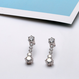 Image 3 - TransGems 5.2CTW  Moissanite Drop Dangle Earrings 14K White Gold for Women Wedding Engagement Birthday Anniversary Gifts