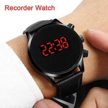 المهنية ضئيلة رقيقة HD كاميرا صور الصوت الصوت مسجل صوتي الرياضة حزام (استيك) ساعة سوار SmartBand معصمه Smartwatch الرجال