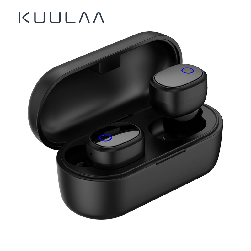 KUULAA Bluetooth 5.0 Esporte Fone De Ouvido Sem Fio Verdadeira TWS Fones De Ouvido Fones De Ouvido Handsfree Fone de Ouvido Para iPhone Xiaomi Samsung Jogos de Telefone