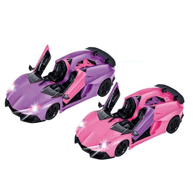 1 12 Five Channel Remote Control Car One Button Open Door Automatic Demonstration Remote Control Sports Car Children Car Toy in RC Cars from Toys Hobbies