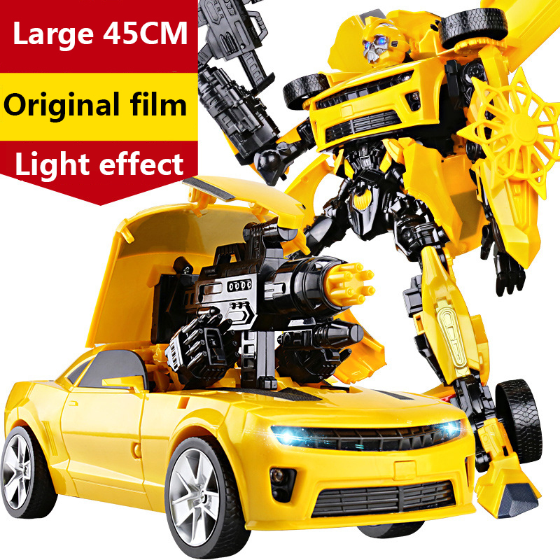 45cm <font><b>Transformation</b></font> Robots Car <font><b>Toys</b></font> War Hornet Battle Blades Optimus Prime Movie Film <font><b>4</b></font> Edition Model Classic Gifts Boy <font><b>Toys</b></font> image