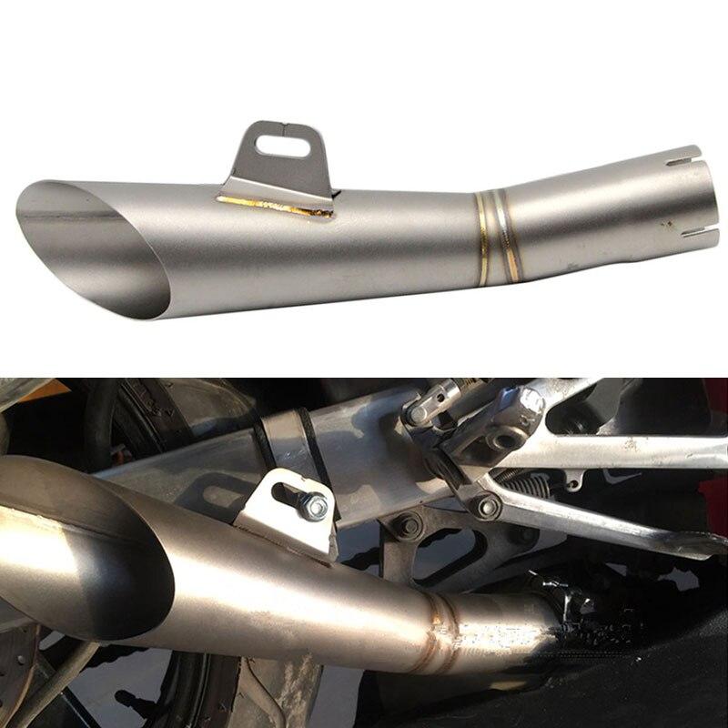 Выхлопная труба мотоцикла выхлопная громкий звук мотоцикл глушитель дБ убийца скутер серебро 51 мм Универсальный для Yamaha YZF R6