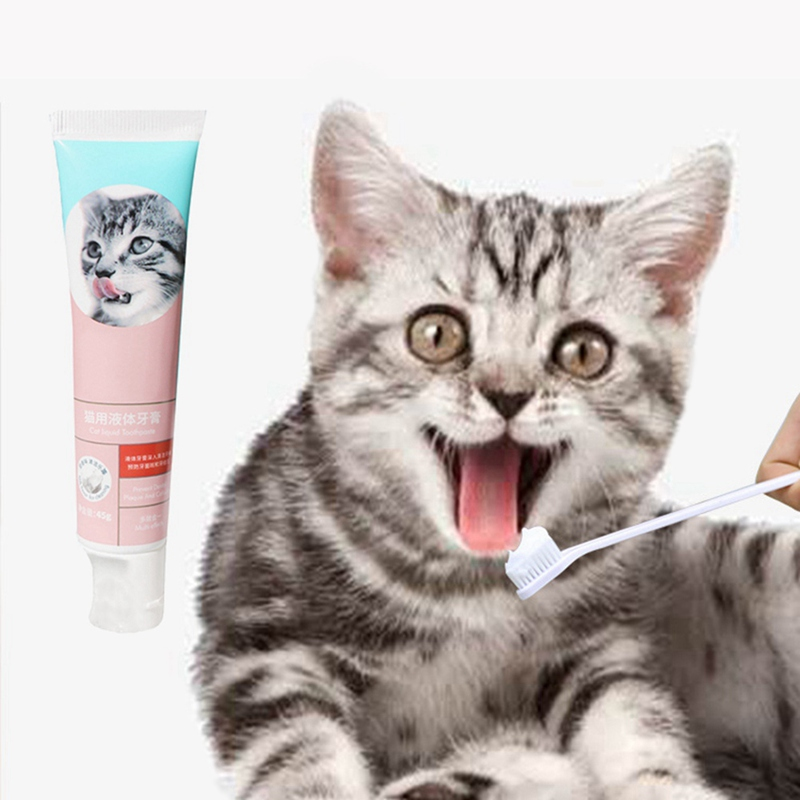 New Three Flavor Pet Dog Cath Tooth Care Cleaning Kits For Cats Dogs Toothbrushes Toothpastes Pet Cleaning Supplies image