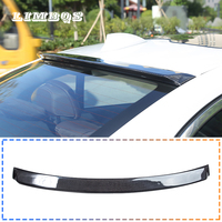Car top wing trim strip spoiler for bmw f10 f11 e60 g30 5 series carbon fiber car rear trunk lip roof top spoiler wing with tape