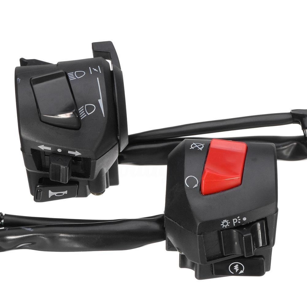 2Pcs/Set Multifunction Universal Motorcycle Handlebar Horn Turn Signal Light Control Switch