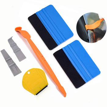 FOSHIO Vinyl Wrap magnes samochodowy ściągaczka narzędzia zestaw folia z włókna węglowego naklejki samochodowe owijania narzędzia Kit folia zaciemniająca okna Auto akcesoria tanie i dobre opinie Carbon fiber film car tools car wrapping tools kit window tint tools vinyl car wrap tools Vinyl Car Stickers Film Cutting Tools