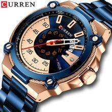 CURREN Design Uhren herren Uhr Quarz Uhr Männlichen Mode Edelstahl Armbanduhr mit Auto Datum Kausalen Business Neue Uhr