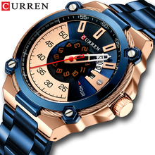 CURREN Design Watches Mens Watch Quartz Clock Male Fashion Stainless Steel Wristwatch with Auto Date Causal Business New Watch