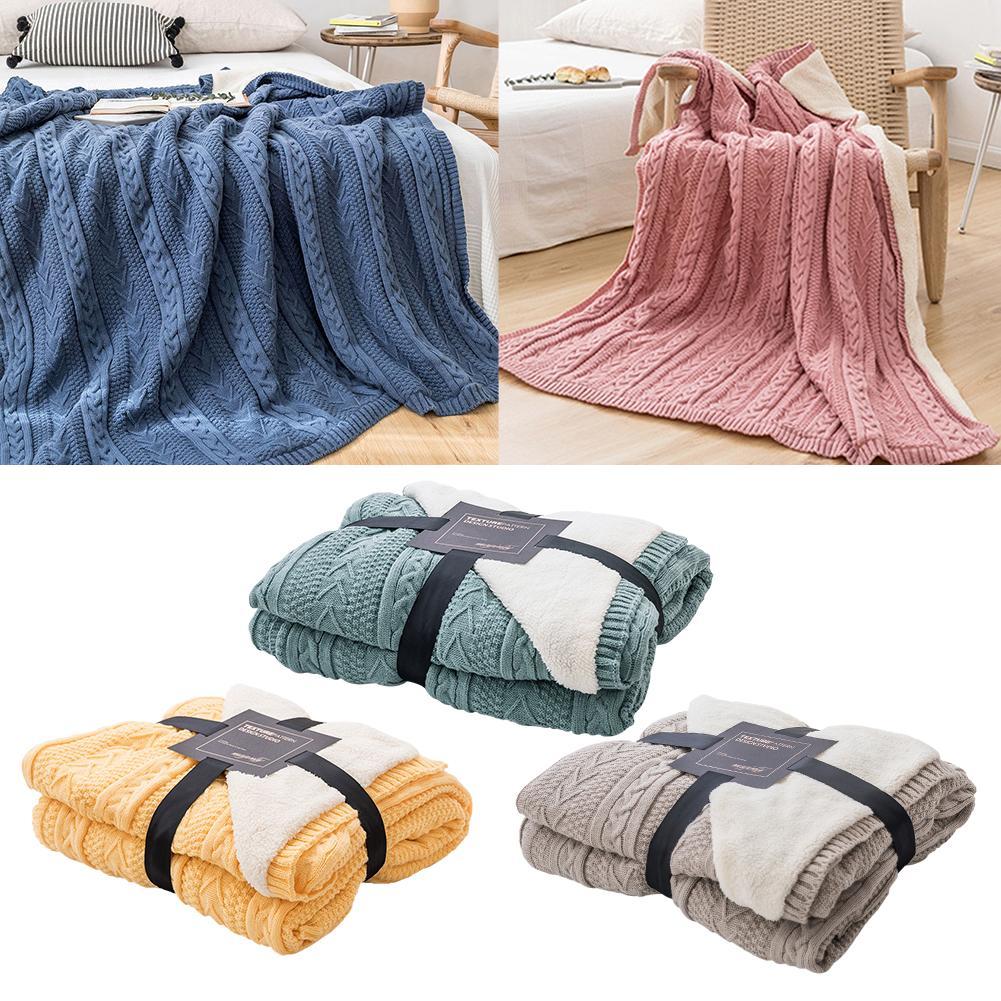 Super doux couverture laine avion canapé utiliser bureau enfants couverture serviette voyage polaire maille Portable voiture voyage couverture couvertures