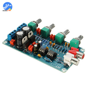 Image 2 - NE5532 Stereo Preamp Tone Board Volume Control 4 Channel HIFI Digital Amplifier AC 12V Sound Board for Telephone Preamp