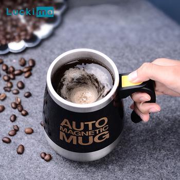Nowy automatyczny Self mieszanie magnetyczny kubek kreatywny 304 ze stali nierdzewnej kawy mleka kubek do mieszania Blender inteligentny mikser kubek termiczny tanie i dobre opinie Luckima 1l Wielofunkcyjny Coffee Maker Stirring Cup Blender Battery Operated STAINLESS STEEL Stojąca 750 w