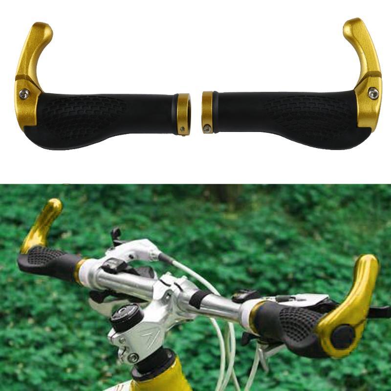 Ergonomic MTB Mountain Bike Handlebar Rubber Grips Cycling Lock-On Ends