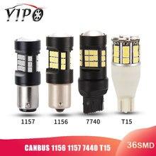 цена на 1156 led BA15S P21W P21/5W bay15d 1157 T20 7440 W21W T15 led car Reverse light Tail Brake Lamp bulb Signal Light 2835 12V CANBUS