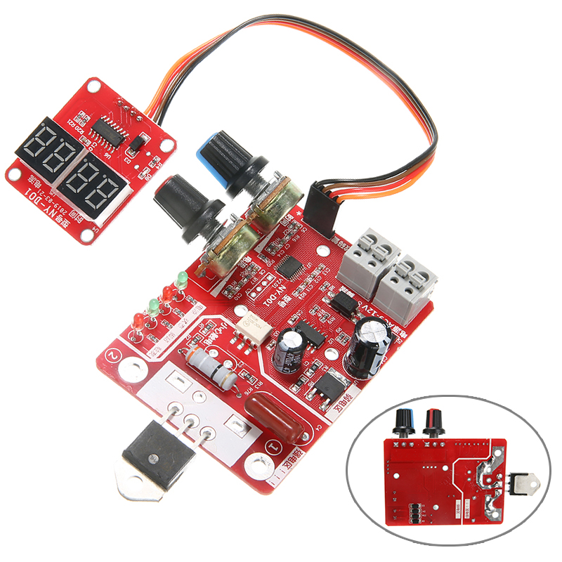 Spot Welder Control Board 40A Digital Display Spot Welding Time And Current Controller Time Control For Spot Welder Machine Use