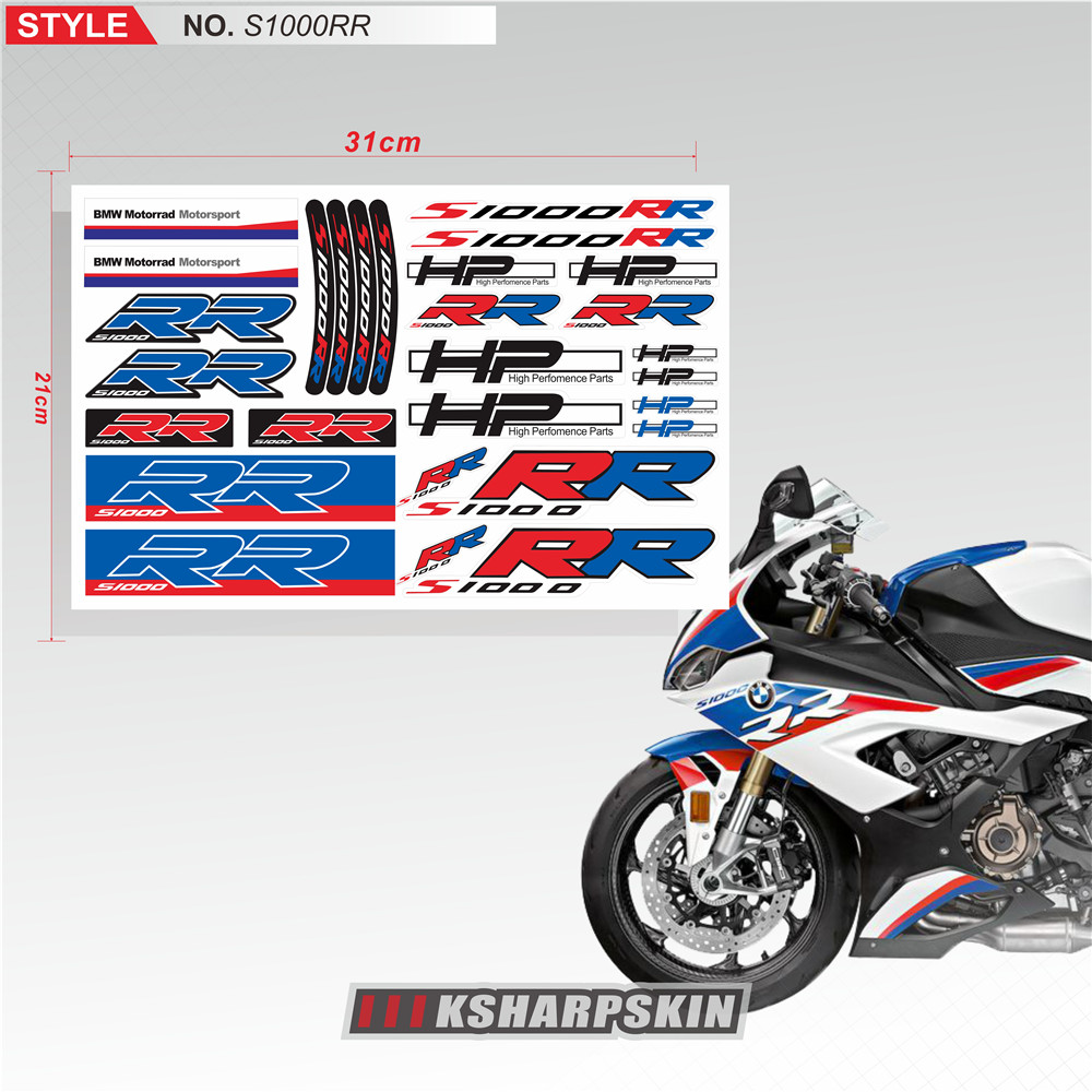 Gloss Black Motorcycle Superbike Sticker Decal Pack Waterproof for Ducati Panigale