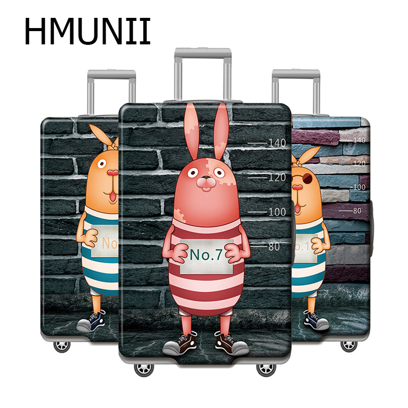 HMUNII Cartoon Pattern Travel Suitcase Protective Cover For 18''-32'' Luggage Case Travel Accessories Elastic Luggage Dust Cover