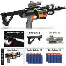 Yeni M4 elektrikli patlama yumuşak kurşun tabancası takım Nerf mermi oyuncak tüfek tabanca Dart Blaster çocuk en iyi hediye oyuncak silah