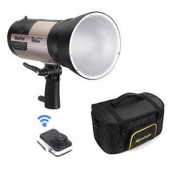 NiceFoto Outdoor Studio Flash Strobe Light 6600mAh Battery 2.4G Wireless System 500 Times Full Power Flash Photography Lighting