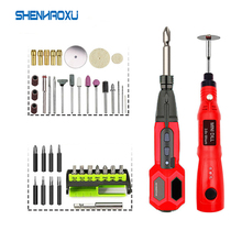 Power-Tool-Set Electric-Screwdriver Li-Ion-Battery Grinder-Drill Cordless Mini Household