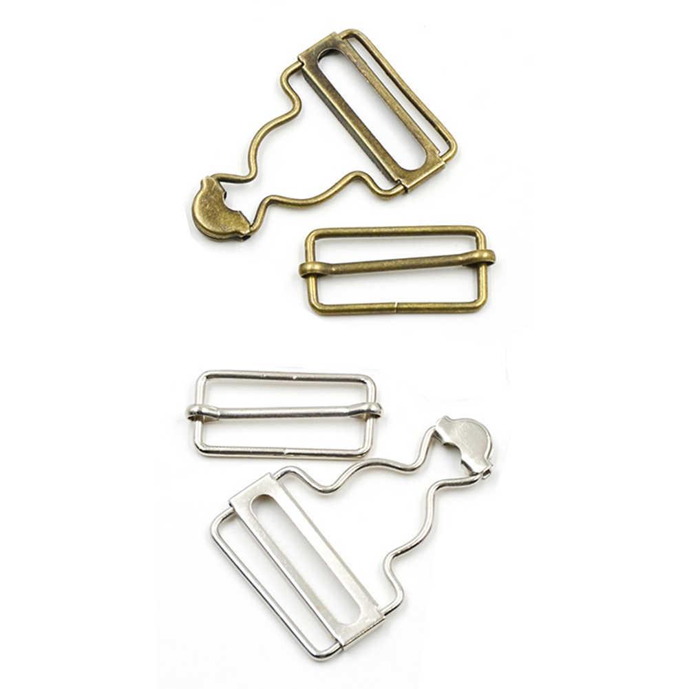 2 unids/set tirantes hebilla sujetador remaches Brace Clips overol accesorios de costura Metal botón Mini babero pantalones vaqueros