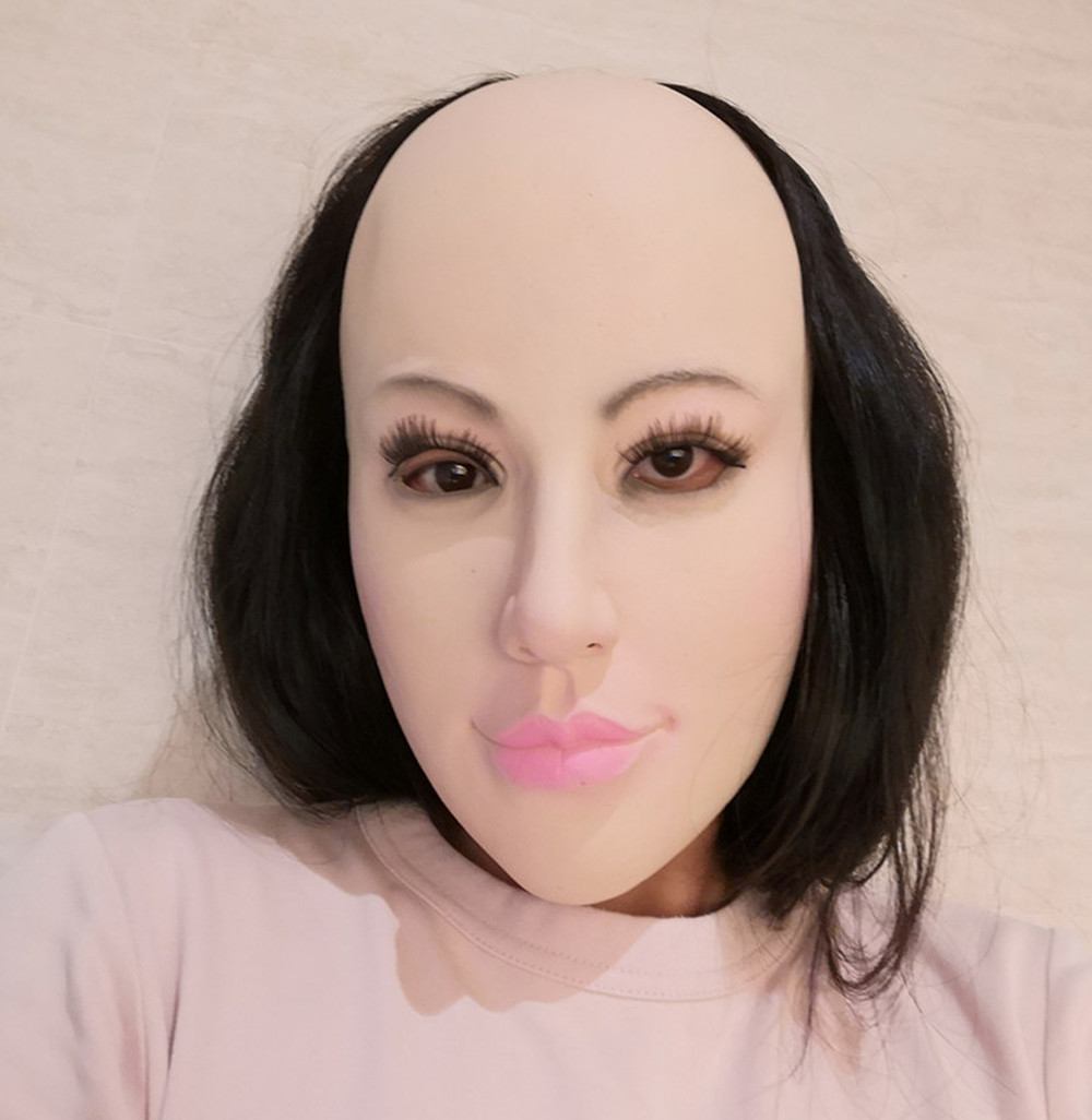 Realistic Female Masks Sexy Latex Mask Halloween Pretty Angel Face Cosplay Male to Female for Crossdresser Transgender Shemale