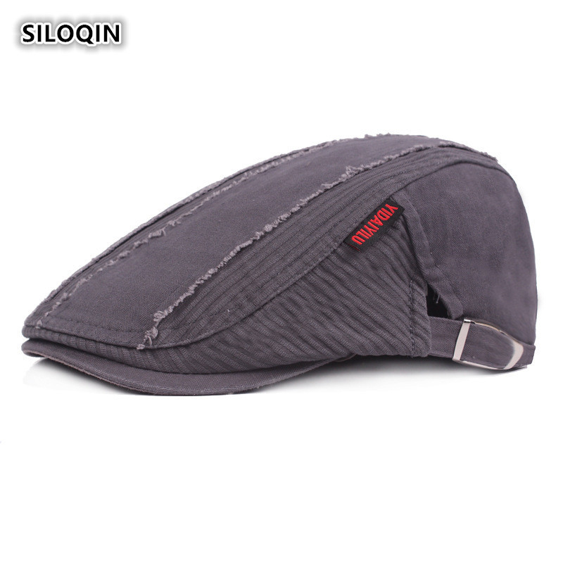 SILOQIN Adjustable Size Fashion Men 39 s Cotton Berets Spring And Autumn Trend Snapback Leisure Motion Mountaineering Riding Visor in Men 39 s Berets from Apparel Accessories