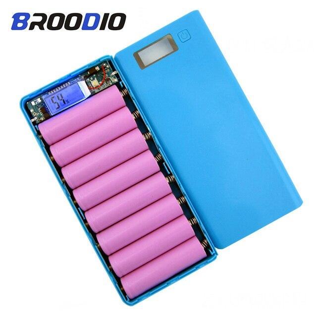 8*18650 pil tutucu çift USB güç banka pil kutusu cep telefonu şarj DIY Shell kılıf şarj saklama kutusu xiaomi için