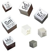 Element Cube 10mm Pure Density Indium Molybdenum Cobalt Gadolinium Silver Dysprosium Tantalum Erbium Holmium Ytterbium Tellurium