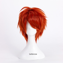 707 Cosplay Short Mystic Messenger Wig Wig-Cap Synthetic-Hair Heat-Resistant Red