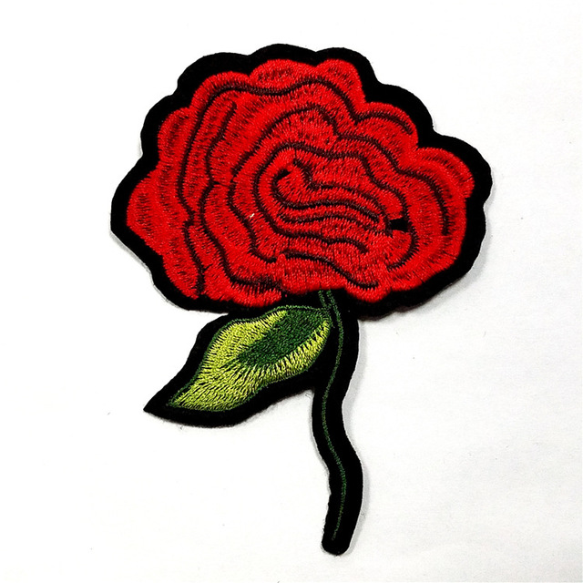 Embroidery Patches For Clothing Manufacturer Flowers Fashion Embroidery Badges For Jacket And Caps Could Make As Your Logo