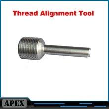 1/2-28 rosqueamento ferramenta de alinhamento (tat) morre o acionador de partida para. 22/.223 .308 7.62mm 9mm cal aço inoxidável 1/2-20