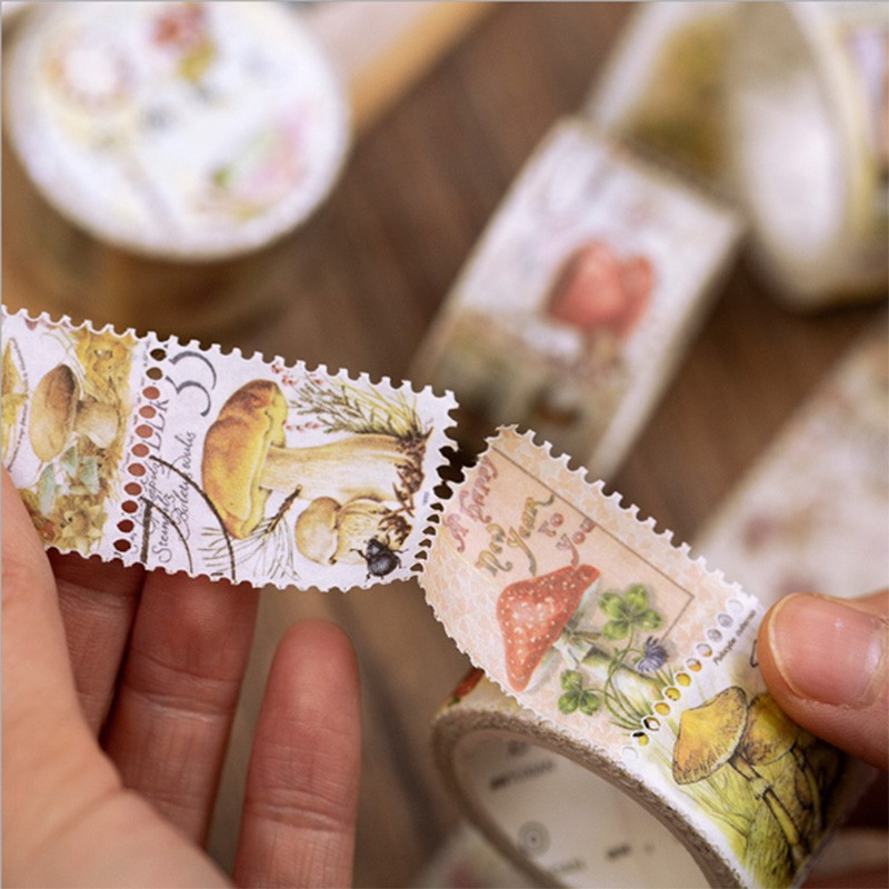 1bag Retro Philately Series Washi Tape DIY Decorative Adhesive Tape Tough Handmade Hand Account Decorative Notebook Collect