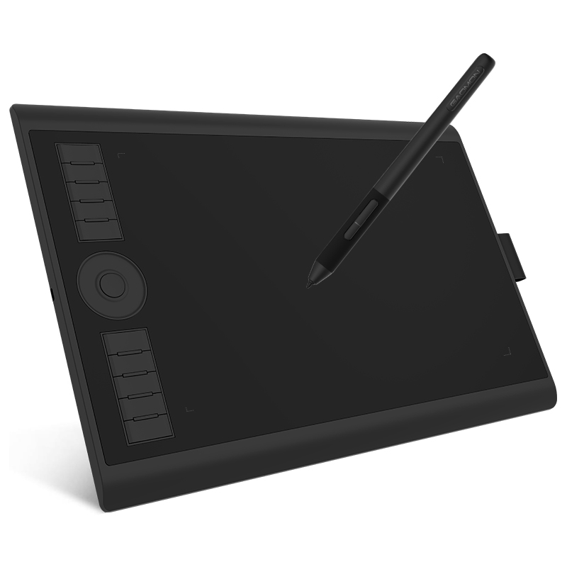 GAOMON M10K PRO 10 x 6.25 Inches Art Digital Graphic Tablet for Drawing Supports Tilt & Radial function with 10 Shortcut Keys