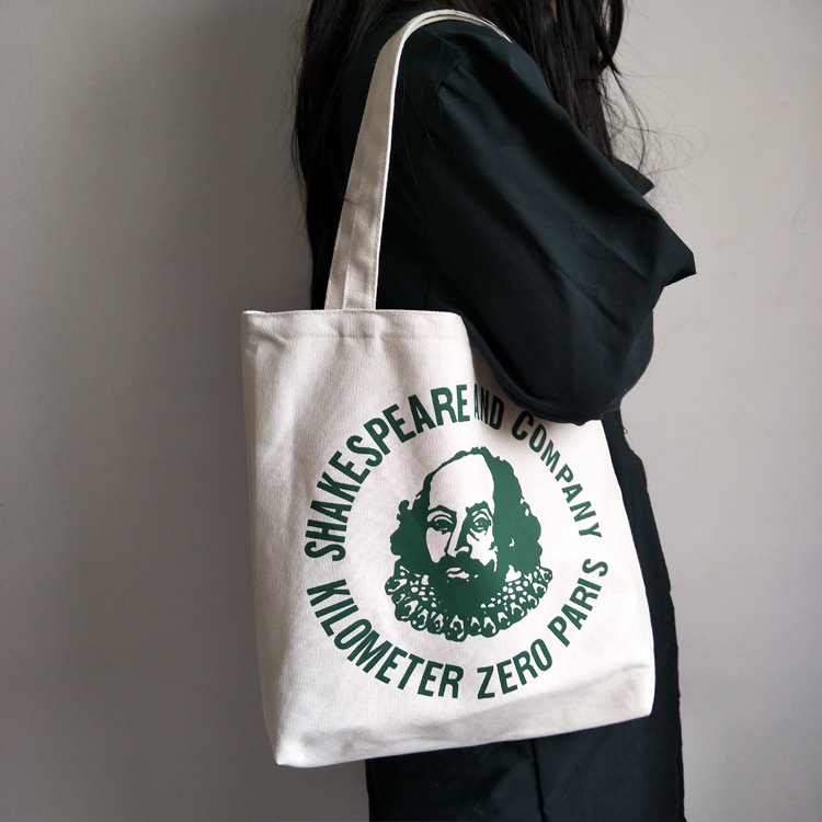 Fashion Version Casual Shoulder Hand-held Canvas Bags Literature And Art Around Shakespeare Bookstore Tote Bag